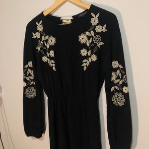 Floral Long-Sleeve Dress
